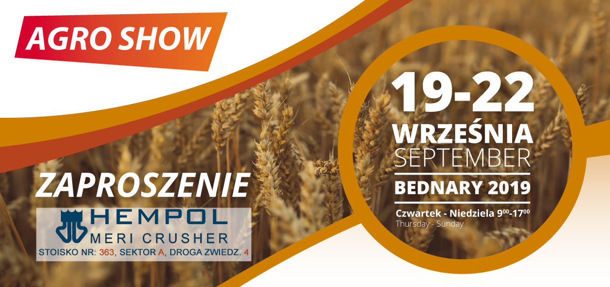 Suokone tradeshow AGRO SHOW 2019 In Poland 19-22 September